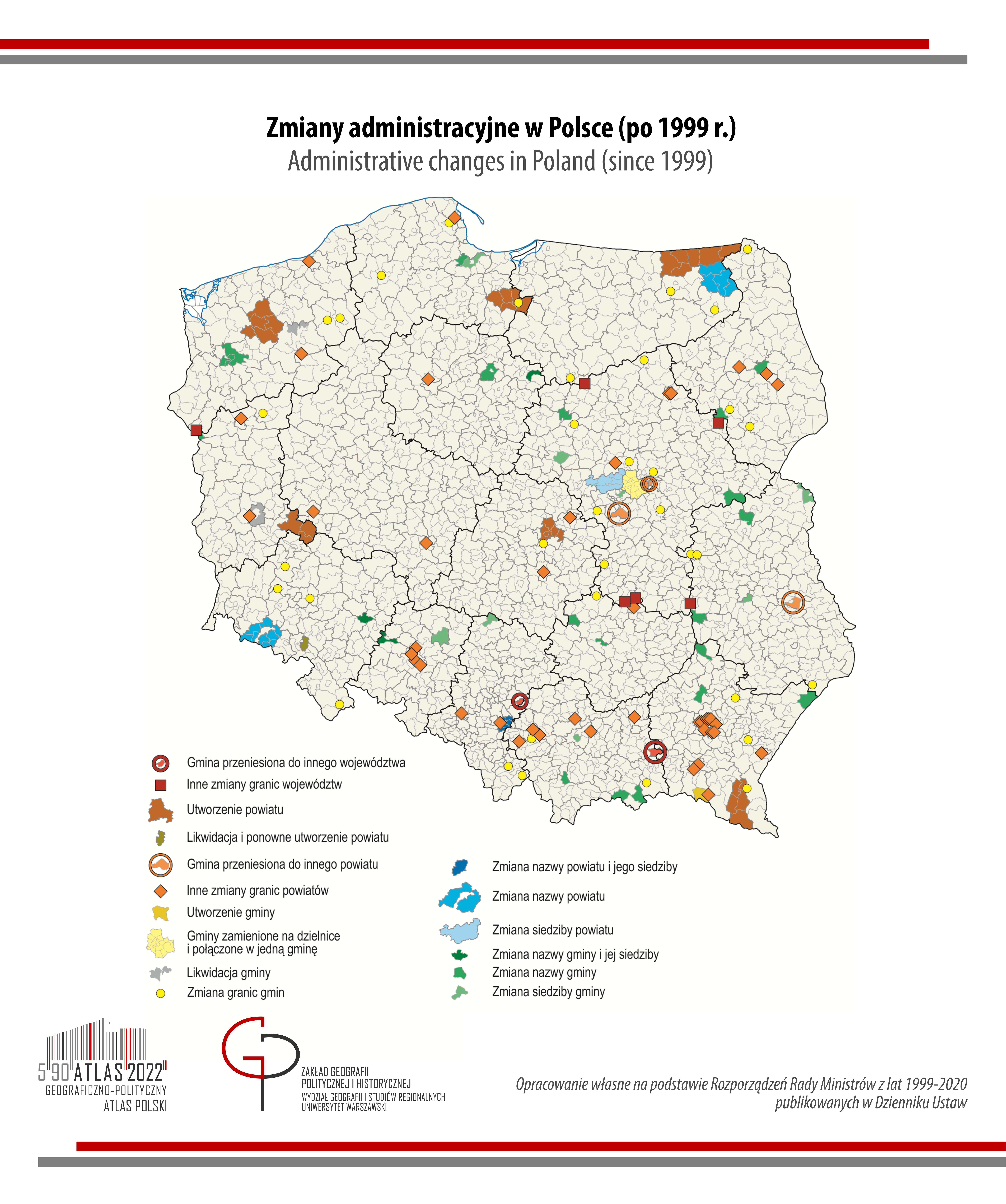 zmiany administracyjne w Polsce